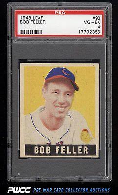 1948 Leaf Bob Feller SHORT PRINT 93 PSA 4 VGEX PWCC