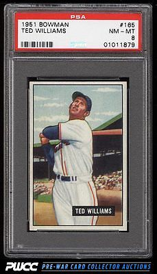 1951 Bowman Ted Williams 165 PSA 8 NMMT PWCC