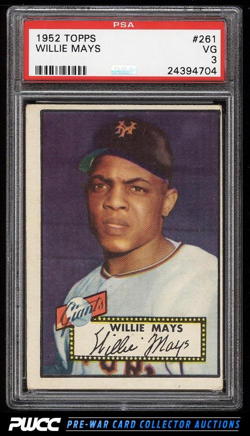 1952 Topps Willie Mays 261 PSA 3 VG PWCC