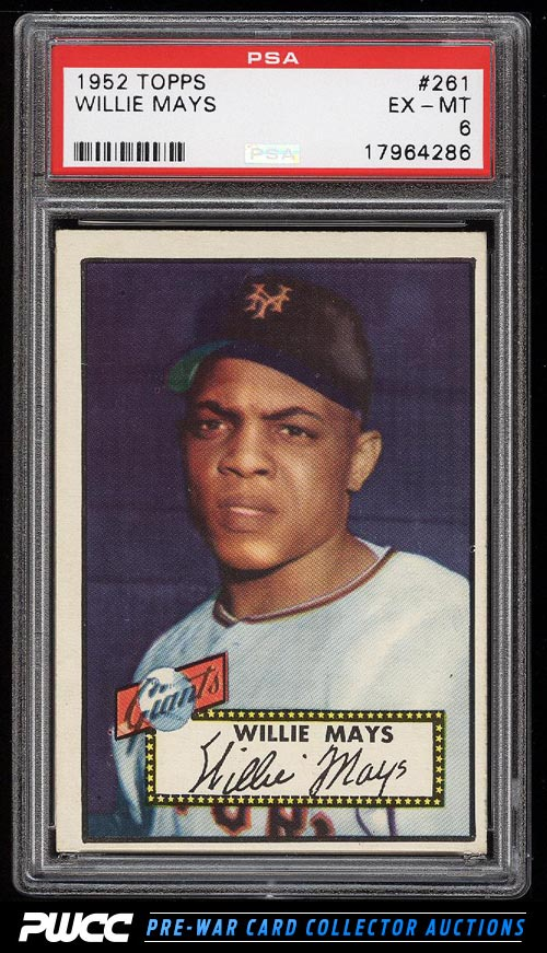 1952 Topps Willie Mays 261 PSA 6 EXMT PWCC