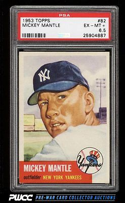 1953 Topps Mickey Mantle SHORT PRINT 82 PSA 65 EXMT PWCC
