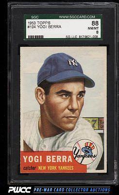 1953 Topps Yogi Berra SHORT PRINT 104 SGC 888 NMMT PWCC