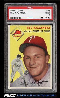 1954 Topps Ted Kazanski 78 PSA 9 MINT PWCC