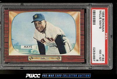 1955 Bowman Willie Mays 184 PSA 8 NMMT PWCC
