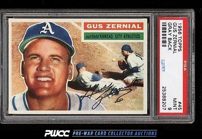 1956 Topps Gus Zernial 45 PSA 9 MINT PWCC