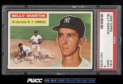1956 Topps Billy Martin 181 PSA 9 MINT PWCC