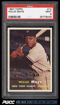 1957 Topps Willie Mays 10 PSA 9 MINT PWCC