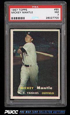 1957 Topps Mickey Mantle 95 PSA 7 NRMT PWCC