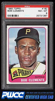 1965 Topps Roberto Clemente 160 PSA 8 NMMT PWCCHE