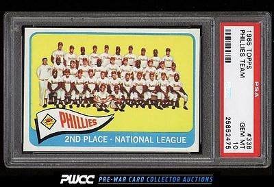 1965 Topps Phillies Team 338 PSA 10 GEM MINT PWCC