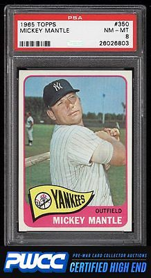 1965 Topps Mickey Mantle 350 PSA 8 NMMT PWCCHE