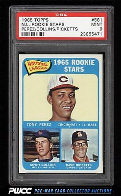 1965 Topps Tony Perez SP ROOKIE RC 581 PSA 9 MINT PWCC