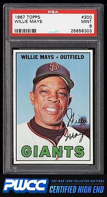 1967 Topps Willie Mays 200 PSA 9 MINT PWCCHE