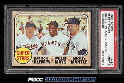 1968 Topps Mickey Mantle Willie Mays Killebrew SUPER STARS 490 PSA 9 MT PWCC