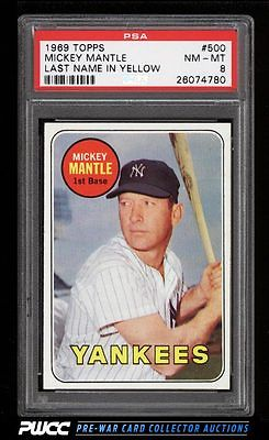 1969 Topps Mickey Mantle 500 PSA 8 NMMT PWCC