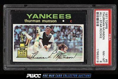 1971 Topps Thurman Munson 5 PSA 8 NMMT PWCC