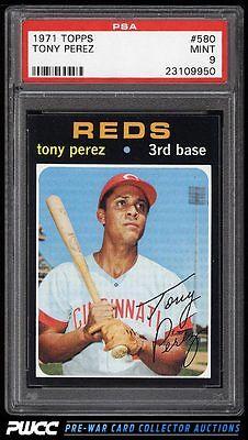 1971 Topps Tony Perez 580 PSA 9 MINT PWCC