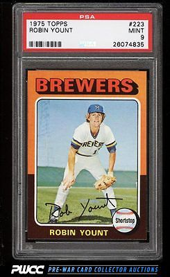 1975 Topps Robin Yount ROOKIE RC 223 PSA 9 MINT PWCC
