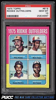 1975 Topps Jim Rice ROOKIE RC 616 PSA 10 GEM MINT PWCC