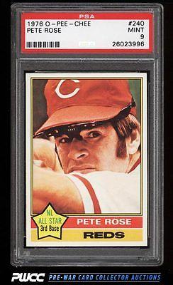 1976 OPeeChee Pete Rose 240 PSA 9 MINT PWCC