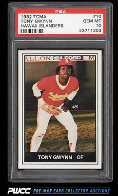 1982 TCMA Hawaii Islanders Tony Gwynn ROOKIE RC 10 PSA 10 GEM MINT PWCC