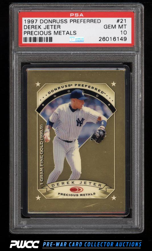 1997 Donruss Preferred Precious Metals Gold Derek Jeter 21 PSA 10 GEM PWCC