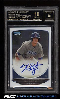 2013 Bowman Chrome Draft Pick Kris Bryant ROOKIE RC AUTO BGS 10 PRISTINE PWCC
