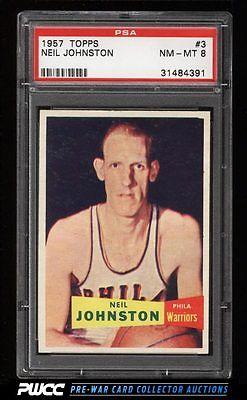 1957 Topps Basketball Neil Johnston ROOKIE RC 3 PSA 8 NMMT PWCC