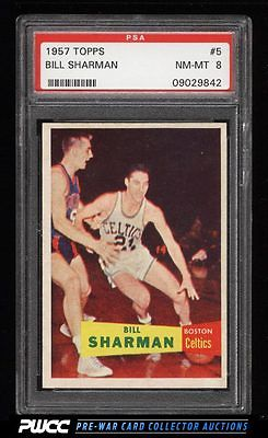 1957 Topps Basketball Bill Sharman ROOKIE RC 5 PSA 8 NMMT PWCC