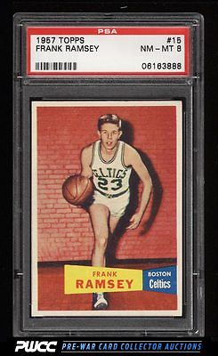 1957 Topps Basketball Frank Ramsey ROOKIE RC 15 PSA 8 NMMT PWCC