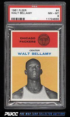 1961 Fleer Basketball Walt Bellamy ROOKIE RC 4 PSA 8 NMMT PWCC
