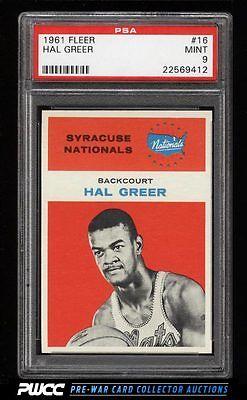1961 Fleer Basketball Hal Greer ROOKIE RC 16 PSA 9 MINT PWCC
