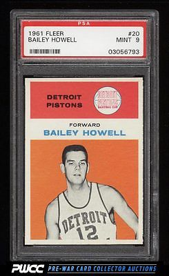 1961 Fleer Basketball Bailey Howell ROOKIE RC 20 PSA 9 MINT PWCC