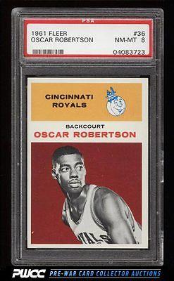 1961 Fleer Basketball Oscar Robertson ROOKIE RC 36 PSA 8 NMMT PWCC