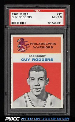 1961 Fleer Basketball Guy Rodgers ROOKIE RC 37 PSA 9 MINT PWCC