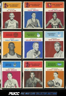 1961 Fleer BBall MidGrd COMPLETE SET Baylor Russell West Chamberlain RC PWCC