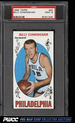 1969 Topps Basketball Billy Cunningham ROOKIE RC 40 PSA 9 MINT PWCC
