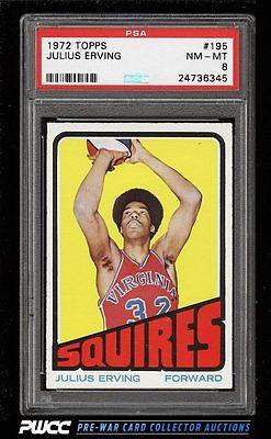 1972 Topps Basketball Julius Erving ROOKIE RC 195 PSA 8 NMMT PWCC