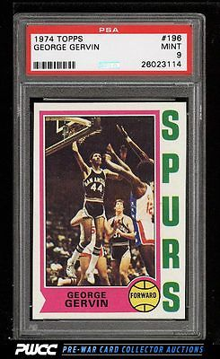 1974 Topps Basketball George Gervin ROOKIE RC 196 PSA 9 MINT PWCC
