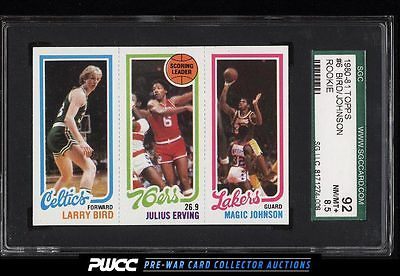 1980 Topps Basketball Larry Bird  Magic Johnson ROOKIE RC SGC 8592 PWCC