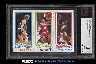 1980 Topps Basketball Larry Bird  Magic Johnson ROOKIE RC BGS 9 MINT PWCC