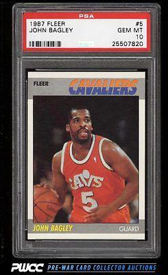 1987 Fleer Basketball John Bagley 5 PSA 10 GEM MINT PWCC