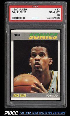 1987 Fleer Basketball Dale Ellis 33 PSA 10 GEM MINT PWCC