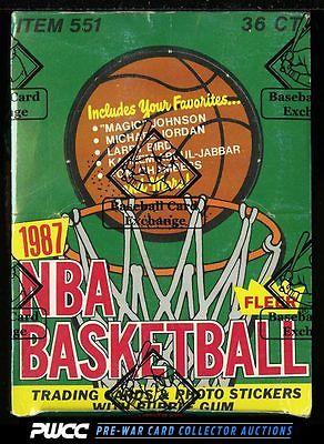 1987 Fleer Basketball Wax Box 36ct Wax Packs Michael Jordan BBCE AUTH PWCC