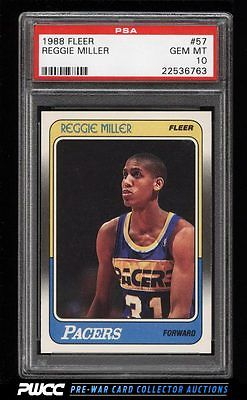 1988 Fleer Basketball Reggie Miller ROOKIE RC 57 PSA 10 GEM MINT PWCC