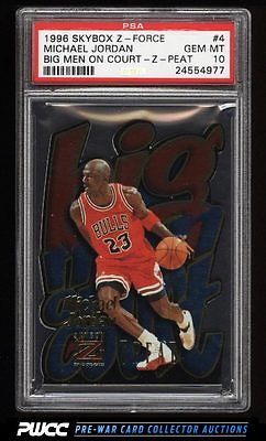 1996 Skybox ZForce Big Men On Court Michael Jordan 4 PSA 10 GEM MINT PWCC