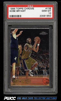 1996 Topps Chrome Kobe Bryant ROOKIE RC 138 PSA 10 GEM MINT PWCC