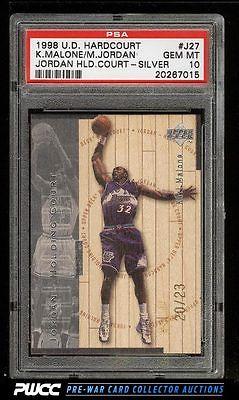 1998 UD Holding Court Silver Karl Malone Michael Jordan 23 PSA 10 GEM PWCC