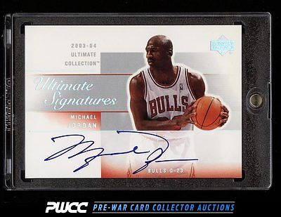 2003 Ultimate Collection Ultimate Michael Jordan AUTO MJA PWCC