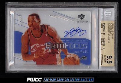 2003 Upper Deck Glass Auto Focus LeBron James ROOKIE RC AUTO BGS 95 GEM PWCC